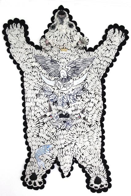 , 'The tattooed bear,' 2017, K + Y Gallery