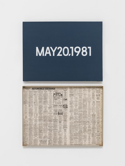 ", 'MAY 20, 1981 ""Wednesday"",' 1966–2013, Guggenheim Museum"