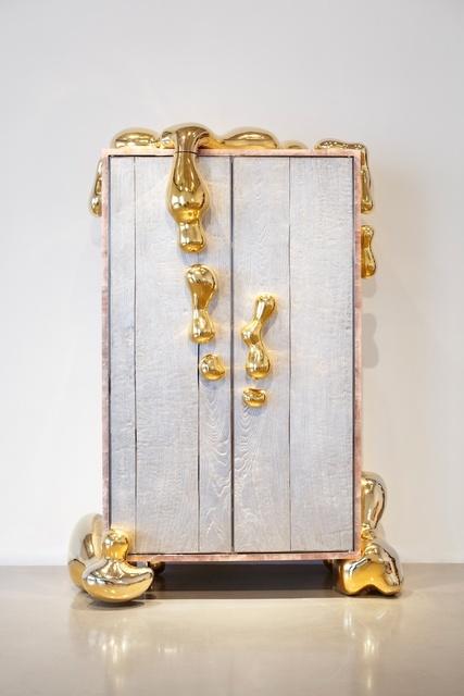 , 'Liquid Gold cabinet,' 2013, Paul Kasmin Gallery