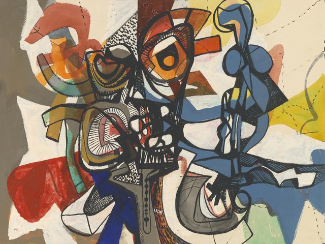 , 'Composition,' 1950, Dolan/Maxwell