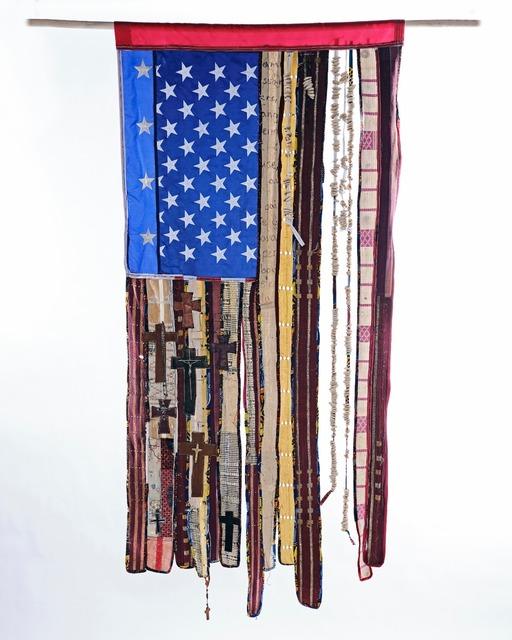 Daàpo Reo, 'The Nazarene Prince Scam...', 2021, Textile Arts, Mixed media assemblage, Richard Beavers Gallery