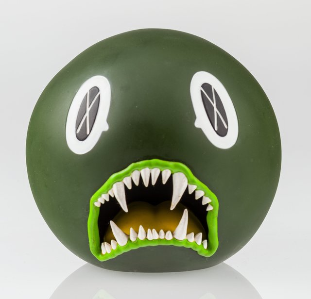 KAWS, 'Cat Teeth Bank (Green)', 2007, Heritage Auctions
