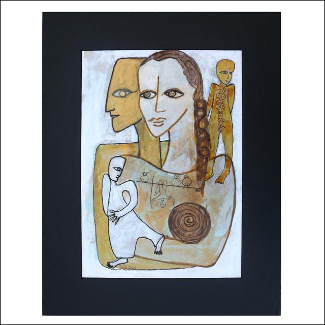 "Geneviève Lahens Esper dite Iris, '""World Harmony"" Series-2b', 2021, Painting, Acrylic and ink on paper, Galerie Lakaye"