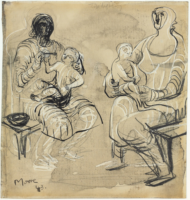 , 'Madonna and Child Studies,' 1943, Connaught Brown
