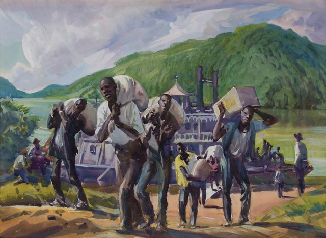 , 'Stevedores, Ohio River,' ca. 1920, WOLFS