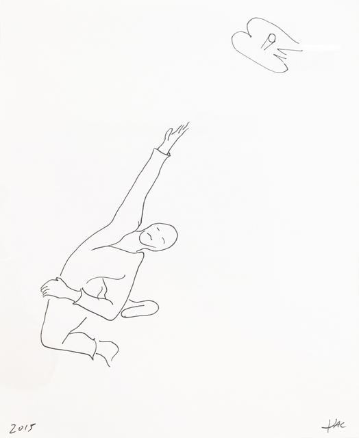 , 'Performance pour un astronaute, une paire de ciseaux et deux feuilles de papier #5,' 2017, Galerie Charlot
