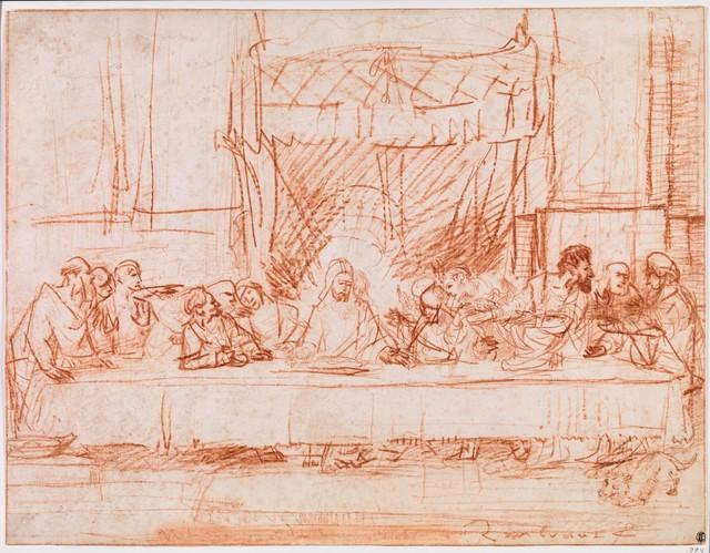 Rembrandt van Rijn, 'The Last Supper, after Leonardo da Vinci', 1634–1635, The Metropolitan Museum of Art