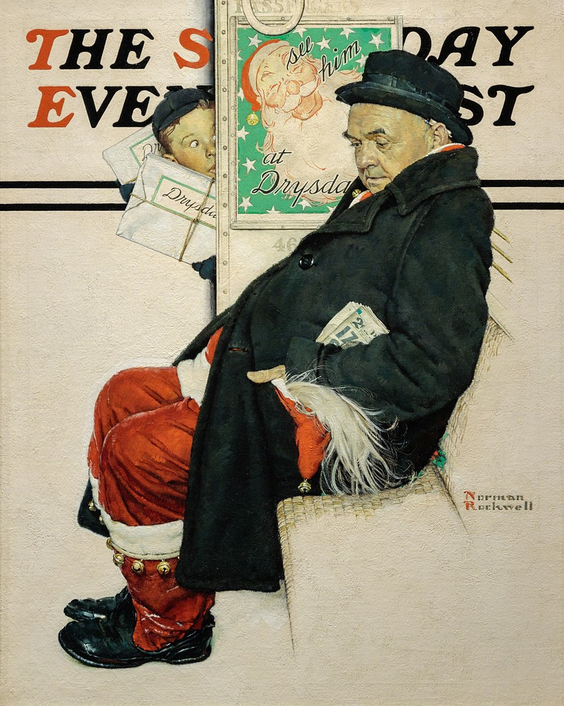 Santa on the Train, Saturday Evening Post Cover