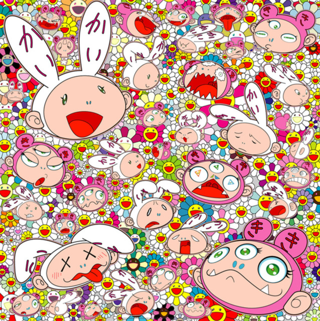 Takashi Murakami, 'There's bound to be difficult time There's bound to be sad times But we won't lose heart; we'd rather not cry, so laugh, we will!', 2018, Vogtle Contemporary