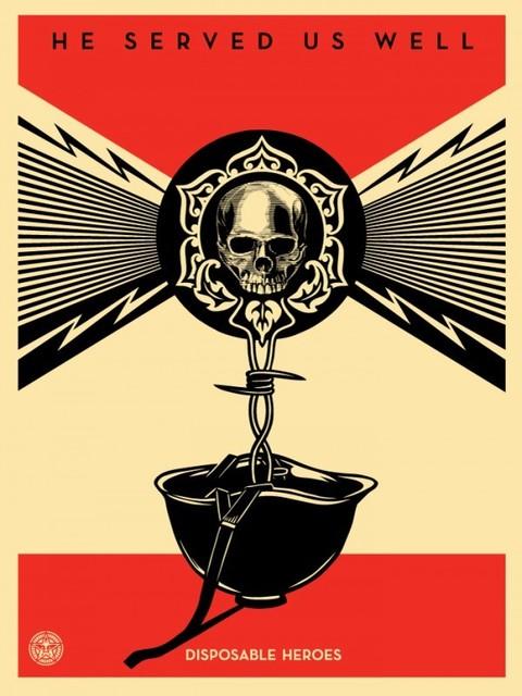 Shepard Fairey, 'Disposable Heroes (Artist Edition)', 2012, Black Book Gallery