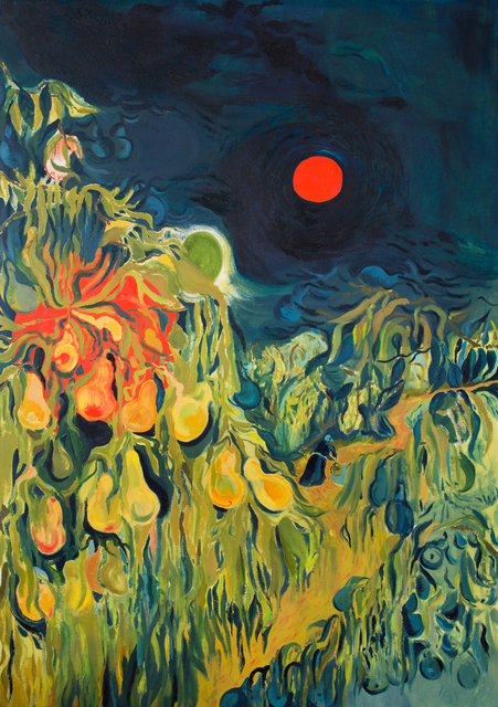 , 'Red Moon in the Orchard,' 2017, Projet Pangée