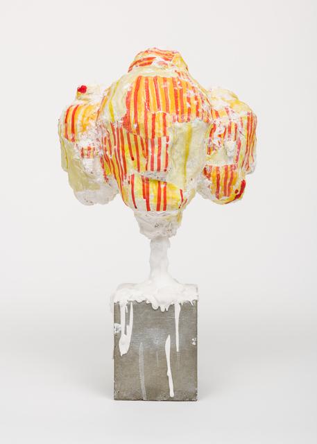 Arlene Shechet, 'Collective Head', 1999, Sculpture, Hydrocal, acrylic paint skins, concrete, steel rod, Lora Reynolds Gallery