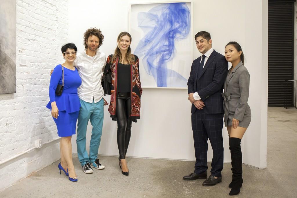 Benjamin Shine at BOCCARA ART Brooklyn Gallery - Matthew Barash, Winifred Hu, Liubov Belousova, Benjamin Shine, Gina Ardani