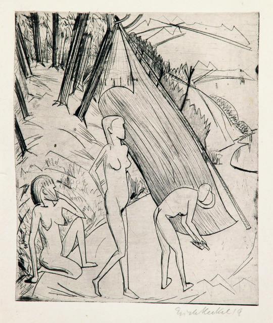 , 'Drei Mädchen am Strand,' 1919, Henze & Ketterer