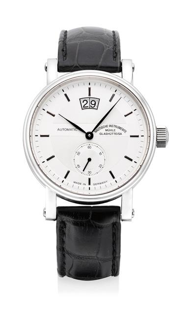 Nautische Instrumente Muhle Glashutte, 'A fine stainless steel wristwatch with date', Circa 2003, Phillips