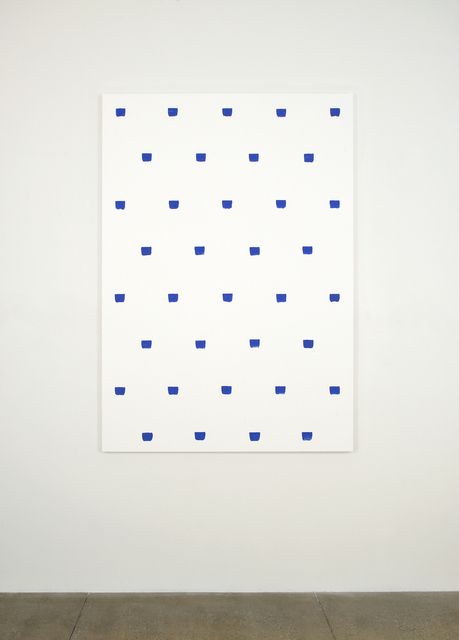 , 'Imprints of paintbrush no. 50 repeated at regular intervals of 30 cm,' 2015, Marian Goodman Gallery