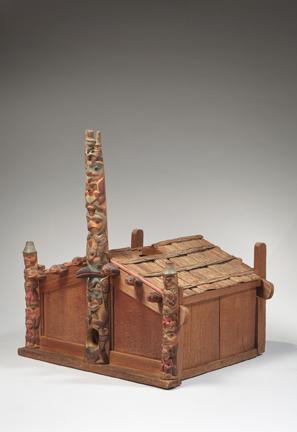 , 'Model House; Haida, British Columbia,' Late 19th century, Newark Museum
