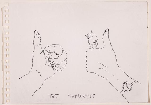 , 'Untitled (TXT Terrorist),' 2012, Rosamund Felsen Gallery