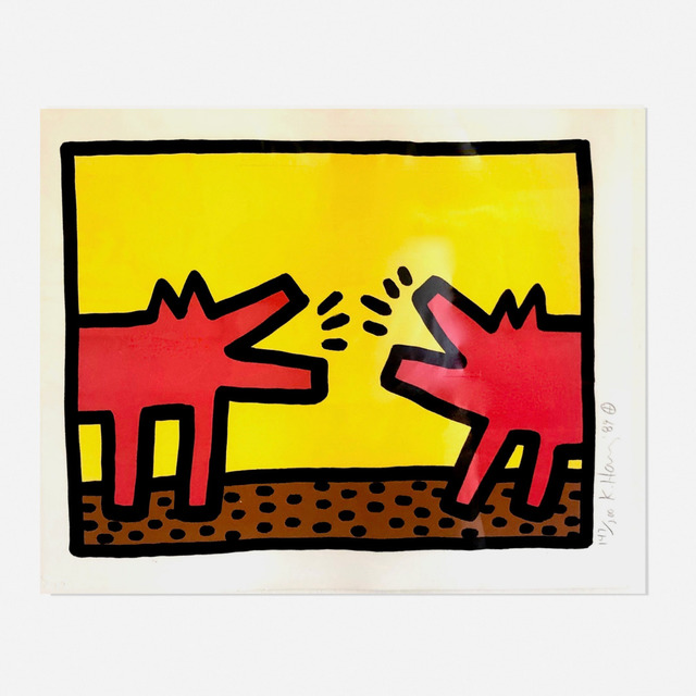 Keith Haring, 'Barking Dogs from Pop Shop Quad IV', 1989, Artsy x Wright