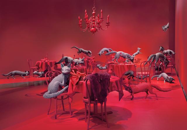 Sandy Skoglund, 'The Grey Foxes', 2008, Paci contemporary
