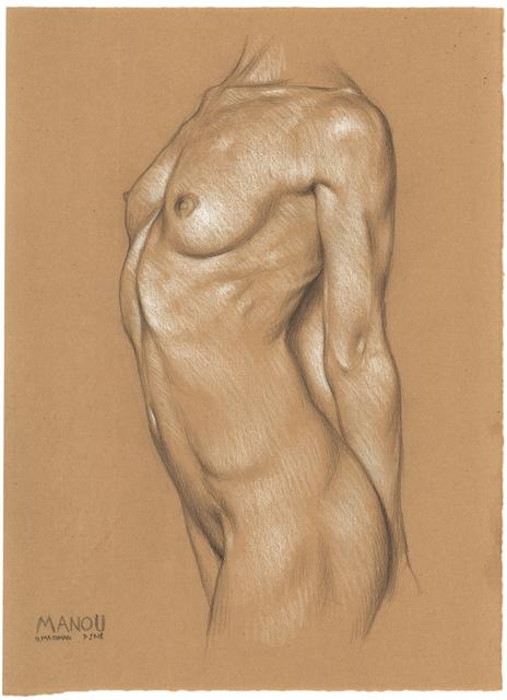 , 'Manou Stretching, Arms Back,' 2018, Jenn Singer Gallery