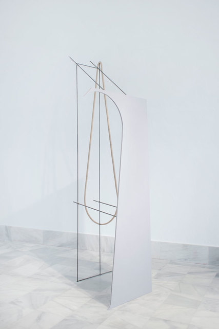 Fuentesal & Arenillas, 'BRILLANTE BREVE VIDA V', 2020, Sculpture, Iron, brass, medium density wood, enamel, cloth, F2 Galería