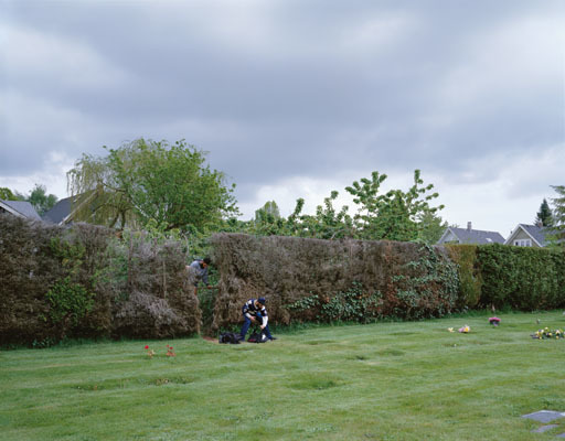 , 'Boys cutting through a hedge,' 2003, Centre for Fine Arts (BOZAR)