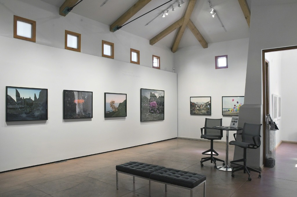 Thomas Jackson's photographs installed in photo-eye Gallery's main room.