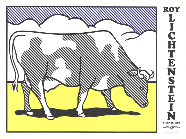Roy Lichtenstein, 'Cow Going Abstract Triptych', 1982, ArtWise