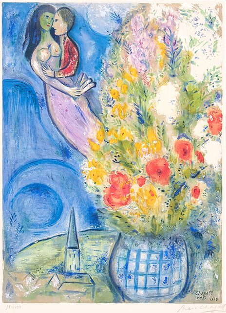 Marc Chagall, 'Les Coquelicots (Red Poppies)', 1949, Masterworks Fine Art