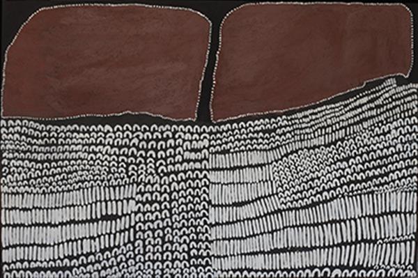 , 'Dayiwool doo Jimbirlam Ngarranggarni,' 2015, Tim Melville Gallery