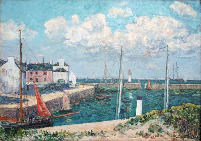 Maxime Maufra, 'Le port Haliguen presqu'île de Quiberon', 1909, Jody Klotz Fine Art