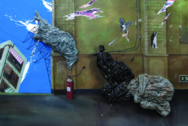 , 'Three Bin Bags,' 2012, Christine Park Gallery