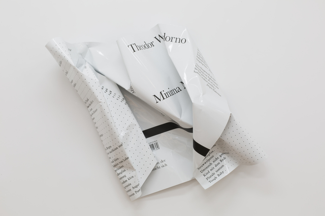 , 'Minima Moralia (Theodor Adorno),' 2017, Galerie Parisa Kind