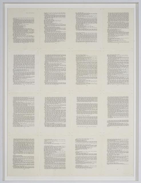 , 'Trascrizioni,' 1976, Galerija Gregor Podnar