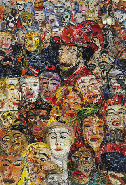 , 'Portrait of the Artist Surrounded by Masks, after James Ensor (Pictures of Magazines 2),' 2013, Sikkema Jenkins & Co.