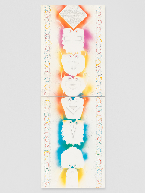 Alighiero Boetti, 'Totem', 1988-1989, Galerie Andrea Caratsch