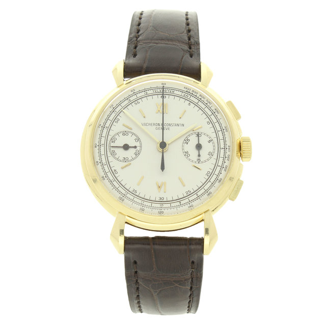 , '18ct yellow gold chronograph wristwatch Ref: 4178.,' ca. 1950, Somlo London