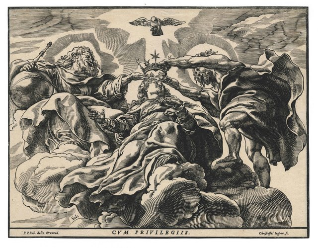 , 'The Coronation of the Virgin Mary (after Peter Paul Rubens).,' ca. 1633, August Laube Buch & Kunstantiquariat