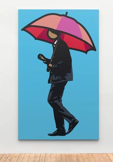 , 'Man smoking with umbrella,' 2012, Galeria Mário Sequeira