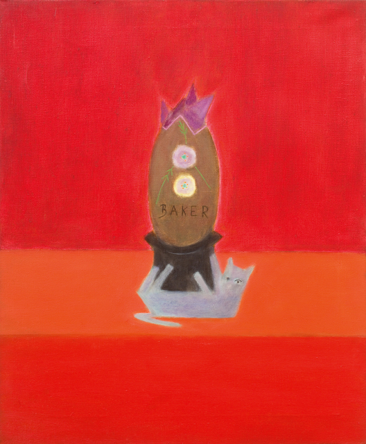 Craigie Aitchison CBE RSA RA, 'Baker's Egg', 1974, Painting, Oil on canvas, Piano Nobile