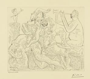 Bacchanale, avec Éros en haut à gauche (B. 776; Ba. 951)