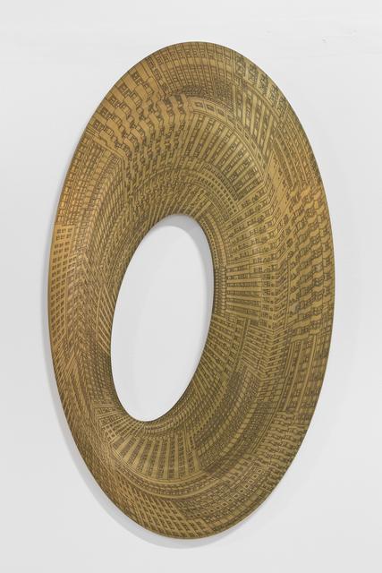 Vasco Mourão, 'Elipse III', 2019, Mixed Media, Ink on 1.5mm brass sheet, Underdogs Gallery