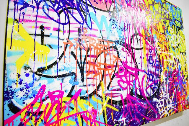 Vincent Bardou, 'URBAN LOVE', 2020, Painting, Painting on canvas on stretcher - aerosol paint, acrylic, Design By Jaler
