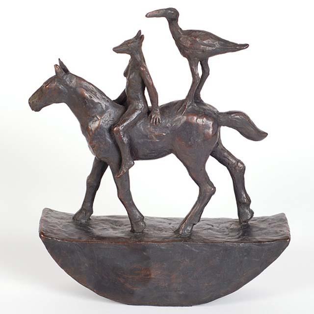 Sadie Brockbank, 'Horse and Riders', Alan Kluckow Fine Art