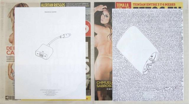 , 'Political Drawing (Metro: Guadalajara, Mexico, Martes 25 Agosto 2015),' 2015, Travesia Cuatro