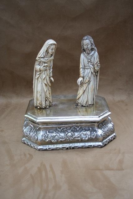 , 'Two Ivory figures with a Silver vase - Novohispano,' , Rodrigo Rivero Lake