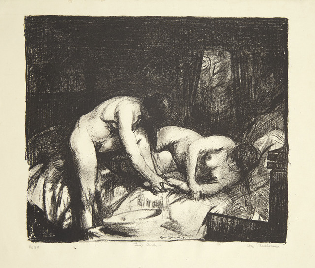 George Wesley Bellows, 'Two Girls', 1917, Print, Lithograph, on simili-Japon paper, Christie's