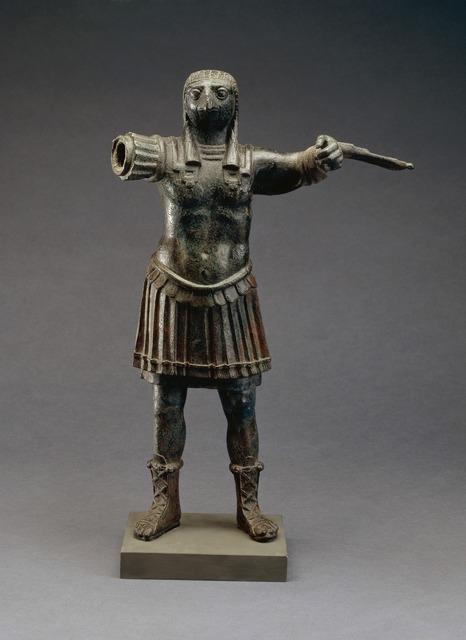 , 'Standing figure of the Roman god Horus, wearing Roman military costume,' 1st-2nd century AD, British Museum