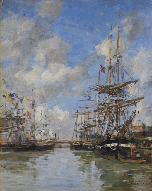 , 'Deauville, voiliers à quai,' 1882-1885, Connaught Brown